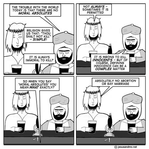 Jesus and Mo Talk Moral Absolutes