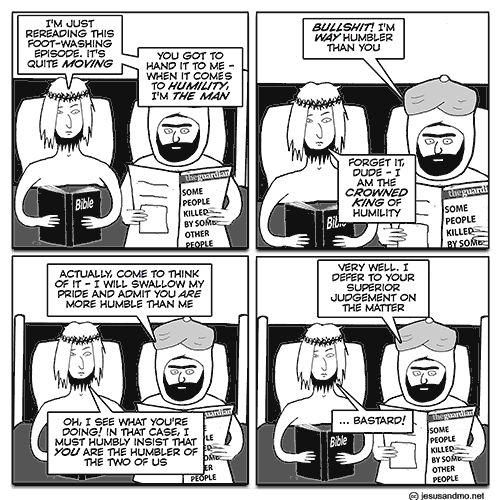 The Comics Section: Arguing about Humility, Gift Receipts