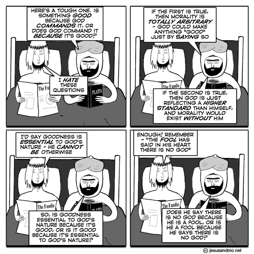 Image result for jesus and mo euthyphro